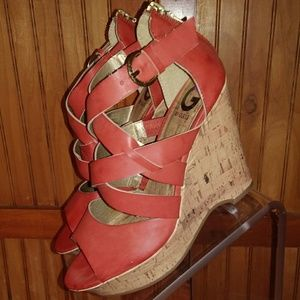 Guess Sky High Strappy Wedges